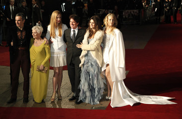 "Cast and director Rob Marshall arrive for the world premiere of ""Nine"" at Leicester Square in London."
