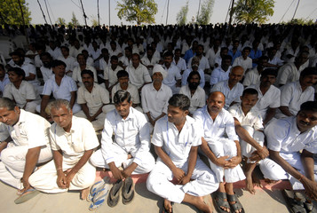 Prisoners attend Diwali celebrations inside Cherlapally Jail in the southern Indian city of Hyderabad