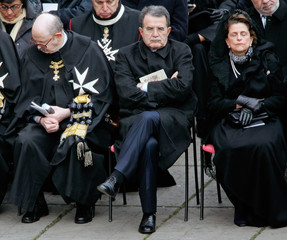 Italy's opposition leader Romano Prodi attends ceremony at the Vatican