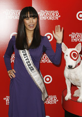 "Miss Universe, Riyo Mori, of Japan arrives to attend the premiere of the film ""Mr. Magorium's Wonder Emporium"" in New York"