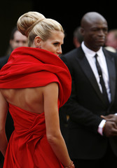 Model Heidi Klum and husband Seal arrive at the 80th annual Academy Awards in Hollywood