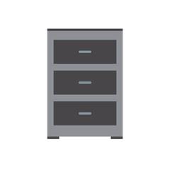 cabinet file document office equipment vector illustration