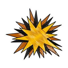 drawing star speech comic talking image vector illustration