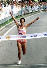 BRAZILIAN RUNNER MARIZETE WINS INTERNATIONAL HALF MARATHON RACE IN RIODE JANEIRO.