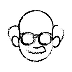 head faceless man character sketch vector illustration