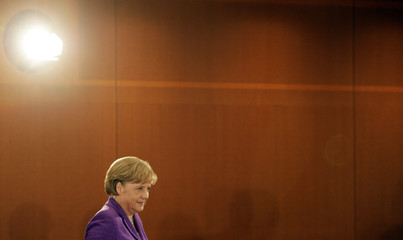 German Chancellor Merkel rrives for conference of Prime Ministers of states in Berlin