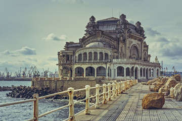 The old Constanta Casino, one of the most representative symbols of the city on the shore of the...