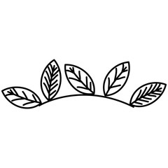 leafs plant decorative icon vector illustration design