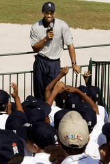 TIGER WOODS ANSWERS QUESTIONS FROM CHILDREN.