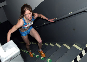 Austrian Mayr climbs steps on her way to winning Empire State Building race in New York