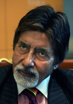 Bollywood icon Amitabh Bachchan is seen during an interview with Reuters in Dubai