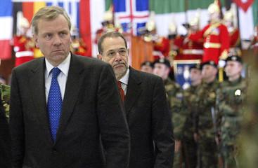 EUFOR commander General David Leakey talks to Reuters