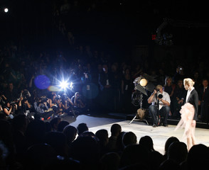 A model presents a creation from the Isaac Mizrahi Spring 2010 collection during New York Fashion Week