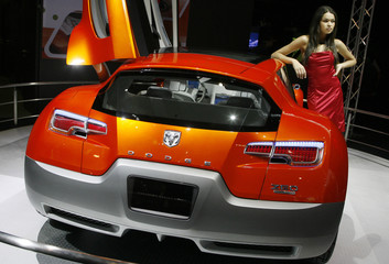 The Dodge Zeo Li-Ion Electric is shown at the Auto China 2008 in Beijing