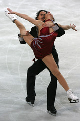 Italy's Faiella and Scali perform during the Original Dance Programme of the European Figure Skating Championships in Warsaw