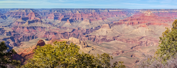 Panoramic view from Yaki Point in Grand Canyon National Park, Arizona, USA.