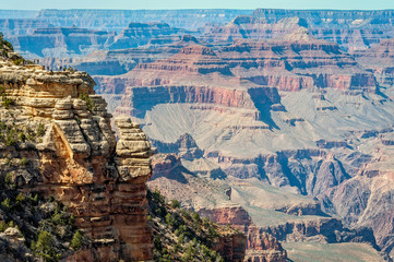 Close-up view from Mather Point - Grand Canyon, Arizona
