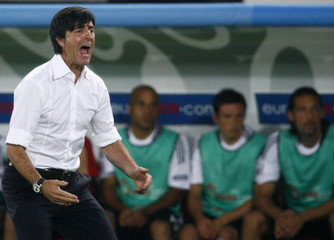 Germany's coach Loew reacts during their Euro 2008 final in Vienna