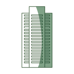Green building tower icon vector illustration graphic design