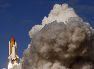 Space shuttle Atlantis lifts off on a mission to the International Space Station from its launch pad at the Kennedy Space Center in Cape Canaveral