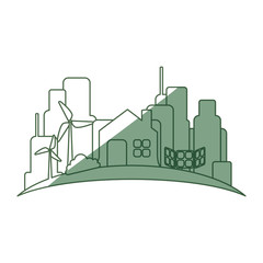 Green city environment icon vector illustration graphic design