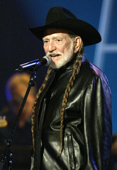 """Willie Nelson performs """"Bear for My Horses"""" with [Toby Keith] (not pictured), during the 30th annual.."""