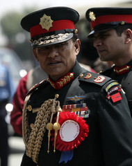 File picture shows Army Chief Rookmangud Katawal attending an event to mark Loktantra Diwas in Kathmandu