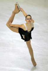 Bobillier of France performs during European Figure Skating Championships
