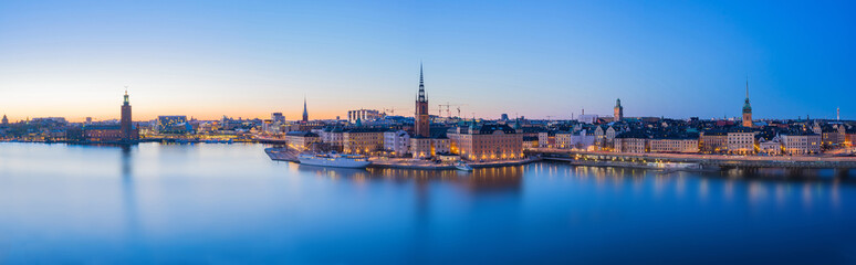 Panorama view of Stockholm skyline in Stockholm city, Sweden