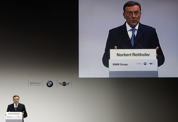 Reithofer, chief executive of German luxury carmaker BMW addresses a news conference in Munich