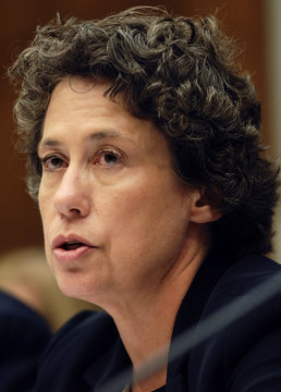 Sheila Bair, Federal Deposit Insurance Corporation Chairman, addresses why a crisis originating from risky loans to less creditworthy buyers happened during a hearing of the House Financial Services Committee on Capitol Hill in Washington