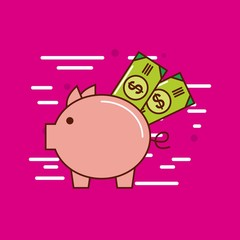 piggy bank money or economy related image vector illustration design