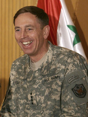 U.S. military commander General Petraeus speaks during a conference hosting Iraq's provincial police chiefs in Baghdad
