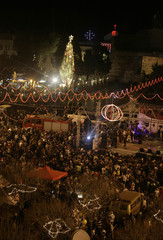 A general view shows Manger Square in Bethlehem
