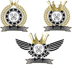 adesivo simbolo motociclismo sport