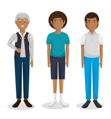 family group characters icon vector illustration design