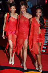 BRITISH POP GROUP MIS-TEEQ ARRIVE AT THE BRIT AWARDS IN LONDON.