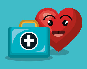 heart character healthcare icon vector illustration design