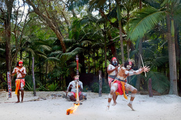 Aboriginal culture show in Queensland Australia