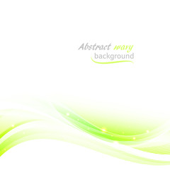 Abstract vector background with green wavy pattern and place for your text.