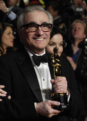 Martin Scorsese, Oscar winner for Best Director, arrives for the Vanity Fair Oscar Party in West Hollywood