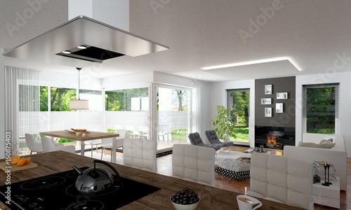 offenes wohnen stockfotos und lizenzfreie bilder auf bild 150875403. Black Bedroom Furniture Sets. Home Design Ideas