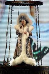CHER MAKES HER ENTRANCE DURING FAREWELL TOUR AT MGM GRAND GARDEN ARENAIN LAS VEGAS.