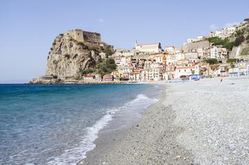 seascape of Scilla, Calabria, Italy