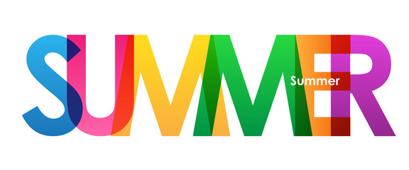 """SUMMER"" Overlapping Letters Vector Icon"