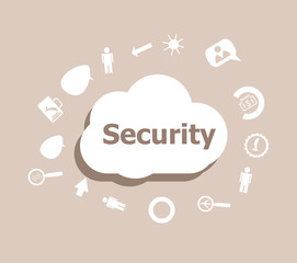 Text Security. Protection concept . Icons set for cloud computing for web and app