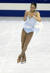 South Korea's Kim performs at the women's free skating program of the World Figure Skating Championships in Tokyo