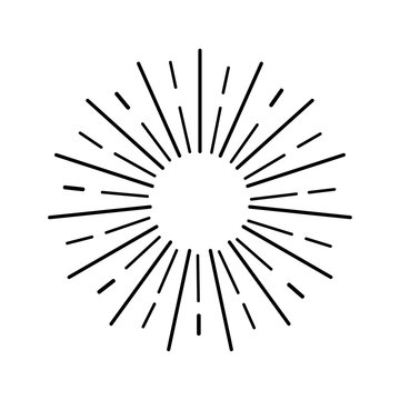 Sun rays on a white background.Vector