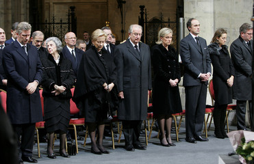 The Belgian Royal family attends a ceremony in honour of the victims of the Asian tsunami in Brussels.