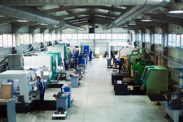 Machine shop and factory of metallurgical works